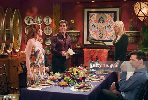 WILL GRACE Last Ex to Brooklyn Episode 2 Aired 10/2/03 Pictured Debra Messing as Grace Adler Eric McCormack as Will Truman Mira Sorvino as Diane Sean...