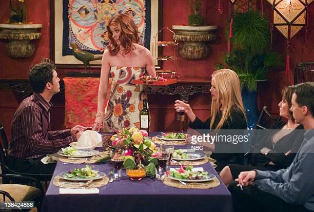 WILL GRACE Last Ex to Brooklyn Episode 2 Aired 10/2/03 Pictured Eric McCormack as Will Truman Debra Messing as Grace Adler Mira Sorvino as Diane...