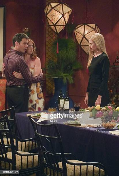 WILL GRACE Last Ex to Brooklyn Episode 2 Aired 10/2/03 Pictured Eric McCormack as Will Truman Debra Messing as Grace Adler Mira Sorvino as Diane