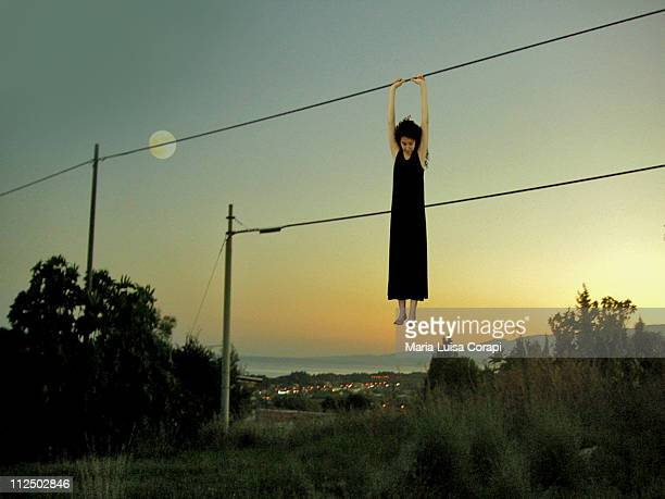 last full moon of summer - one young woman only stock pictures, royalty-free photos & images