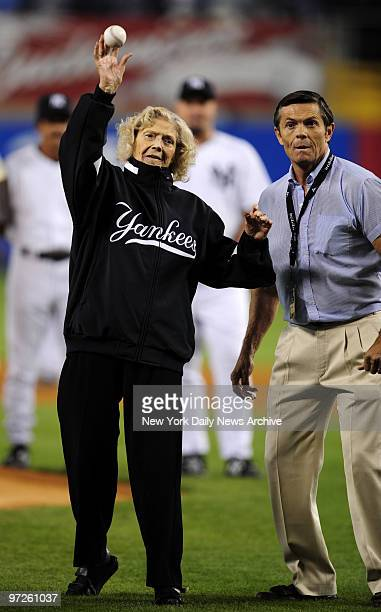 Last home game at Yankee Stadium New York Yankees vs Baltimore Orioles at Yankee Stadium Opening Ceremonies Babe Ruth's daughter Julia Ruth Stevens...