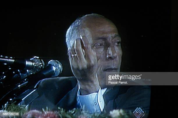 Last Images of Algerian President Boudiaf on Television Prior to His Assassination