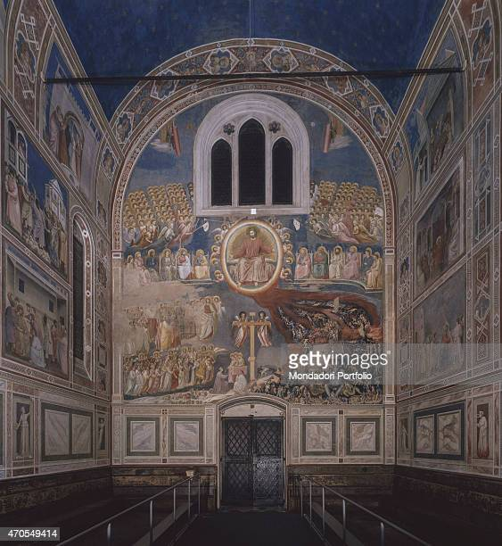Last Judgement by Giotto 13031305 14th Century fresco Italy Veneto Padua Scrovegni Chapel After restoration picture Whole artwork view View of the...