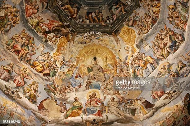 last judgment fresco cycle by frederico zuccaro and giorgio vasari - ルネッサンス様式 ストックフォトと画像