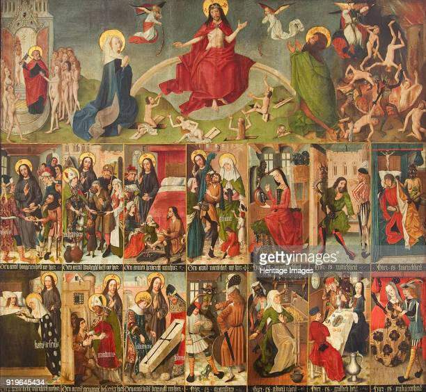 Last Judgment the Seven Works of Mercy and the Seven Deadly Sins c 14901499 Found in the Collection of Maagdenhuismuseum Antwerp
