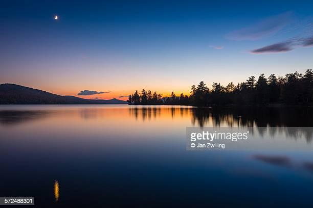 Last light at Silver Lake, Adirondacks