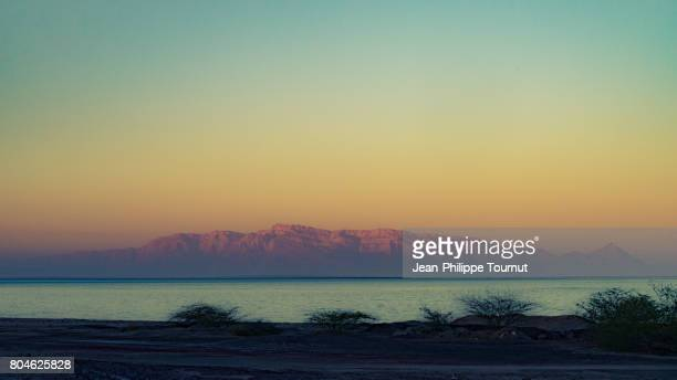 Last light of the day in Hormuz Island, Persian Gulf, Hormozgan Province, Southern Iran