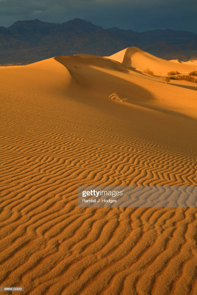 Last Light On The Mesquite Sand Dunes Near Stop Pipe Wells