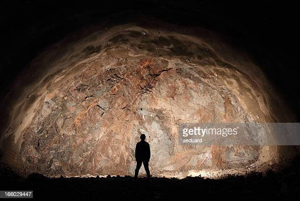 last man/miner standing - mining stock photos and pictures