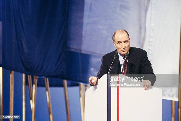 Last meeting of French President Francois Mitterrand at Le Bourget