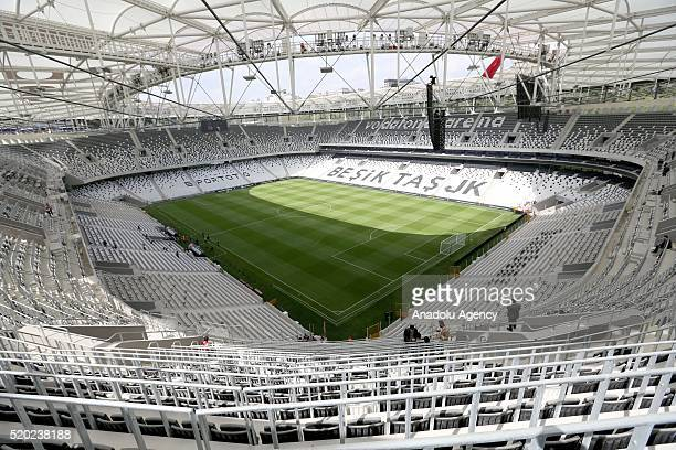 Last preparations are made at Vodafone Arena prior to opening ceremony of Turkey's first smart stadium owned by Besiktas football club in Istanbul...