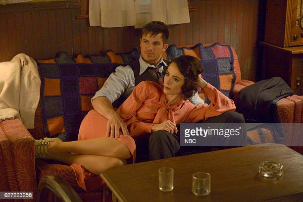 TIMELESS 'Last Ride of Bonnie Clyde' Episode 108 Pictured Abigail Spencer as Lucy Preston Matt Lanter as Wyatt Logan