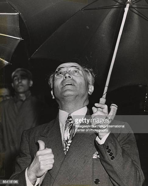Last Saturday morning Weegee whose 'Naked City' portrays New York in terms of people involved in crime poverty disaster covered the city's most...