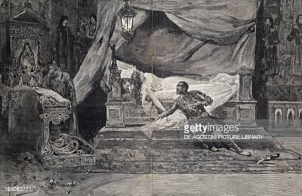 Last scene of Othello opera by Giuseppe Verdi Engraving
