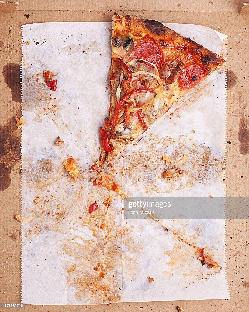 Last slice of pizza : Stock Photo