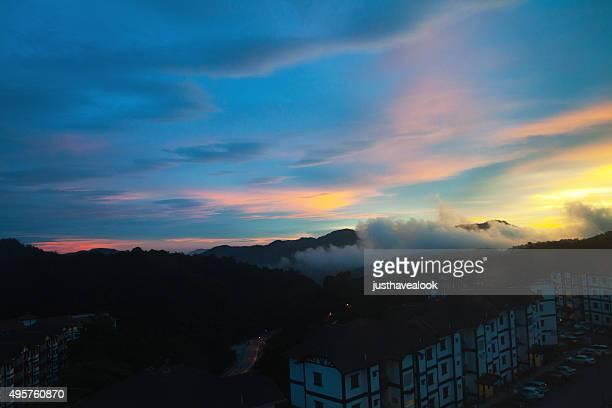 Last sunset light over Tanah Rata