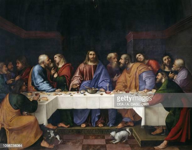 Last Supper by Girolamo Romanino oil on canvas