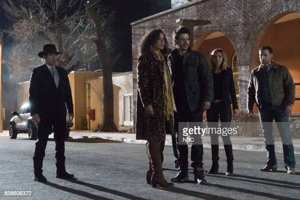 MIDNIGHT TEXAS 'Last Temptation of Midnight' Episode 108 Pictured Yul Vázquez as Rev Sheehan Parisa FitzHenley as Fiji Francois Arnaud as Manfred...