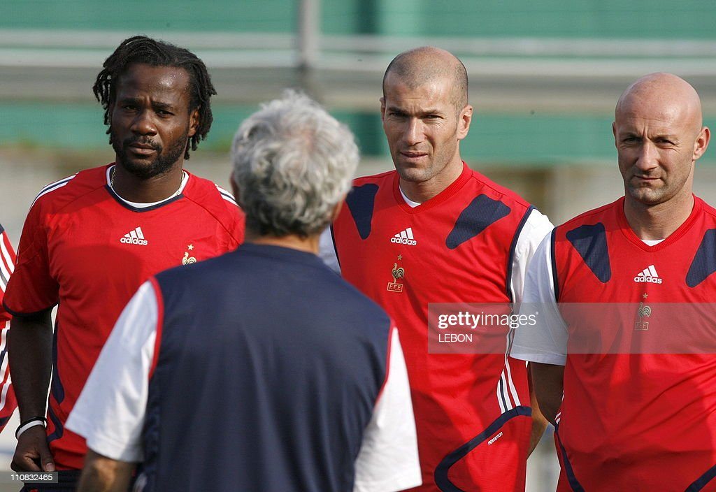 Last Training For French Team Before 2006 Fifa World Cup Final In Berlin, Germany On July 08,2006. : Photo d'actualité