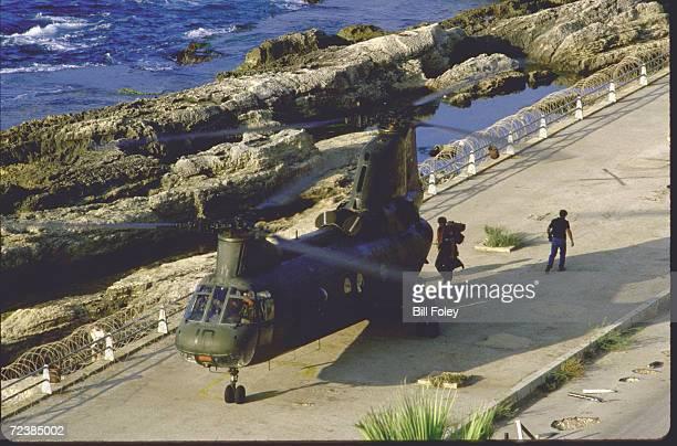 Last US combat Marines leaving West Beirut Lebanon