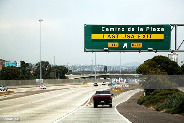 Last USA freeway exit before Tijuana Mexico
