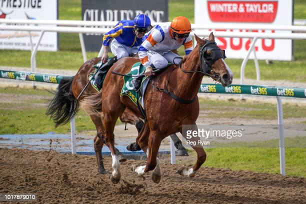 Milord ridden by John Allen wins the Lord of the Isles BM64 Handicap at Geelong Synthetic Racecourse on August 17 2018 in Geelong Australia