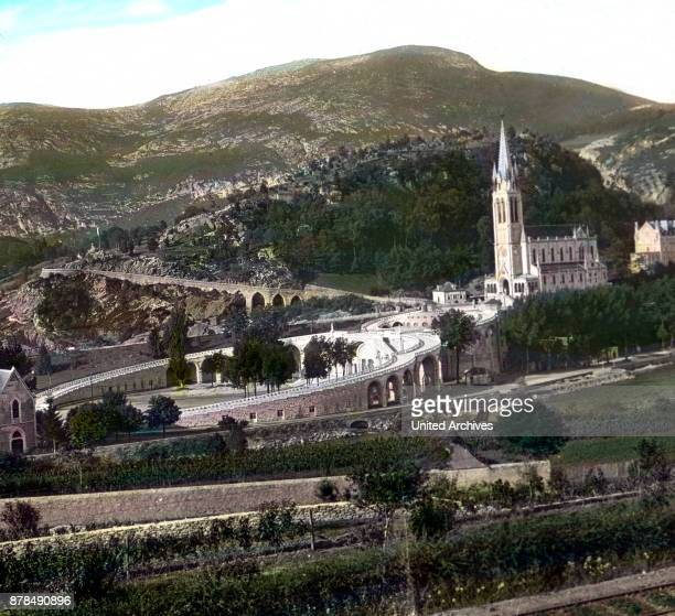 Last view to the city of Lourdes