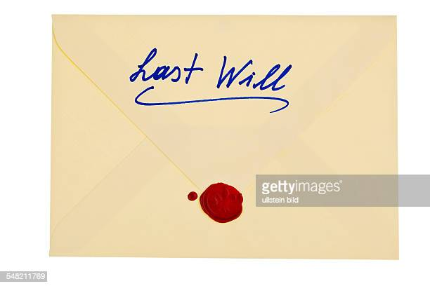 last will envelope with seal