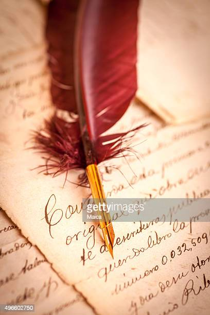 last will on parchmante - calligraphy stock photos and pictures