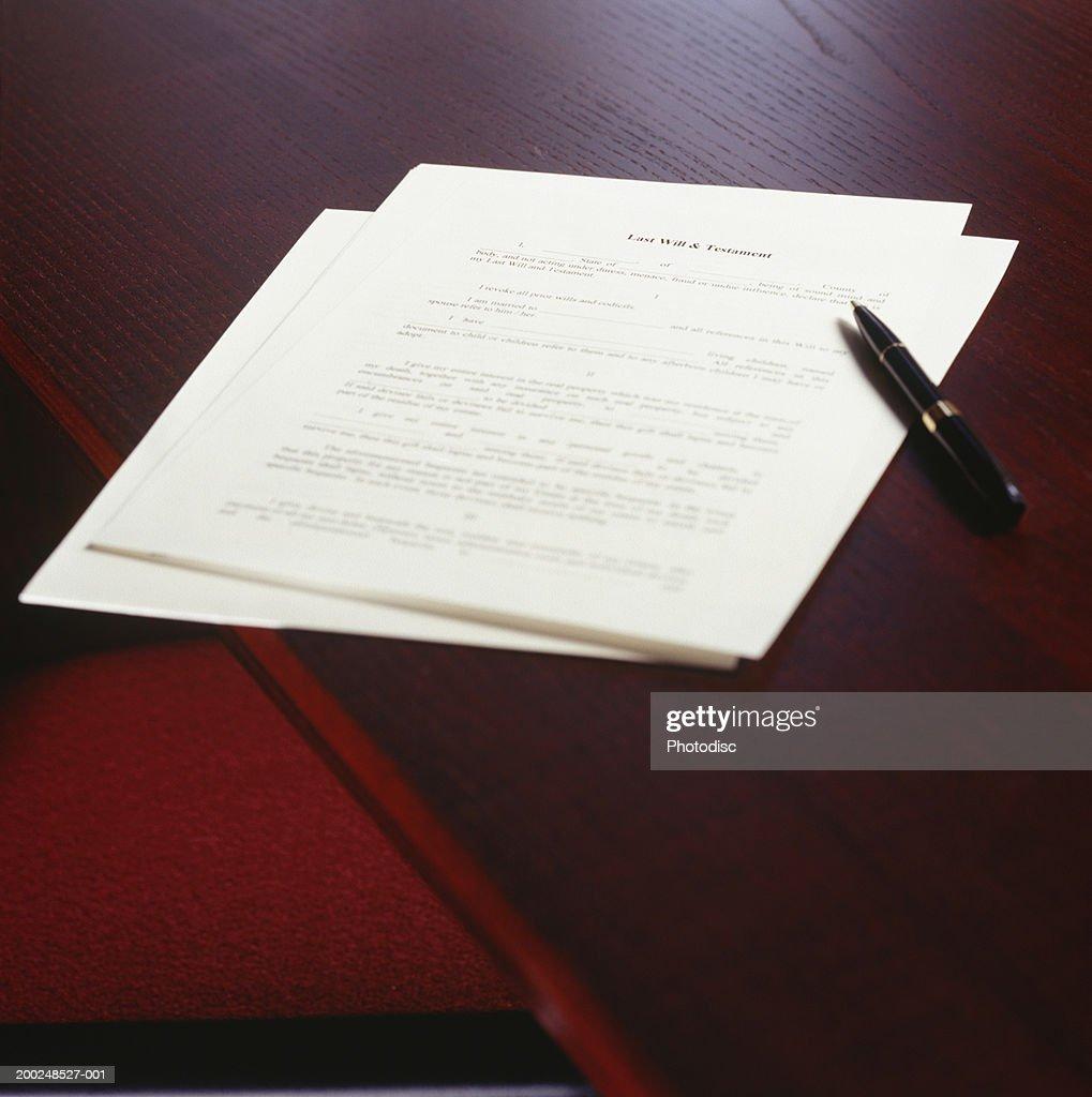 Last will & testament : Stock Photo