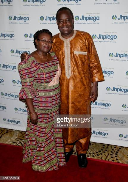 Lastina Tembo Lwatula and Dr Alain Damiba attend Jhpiego's 'Laughter Is The Best Medicine' Gala at the Beverly Wilshire Four Seasons Hotel on May 1...