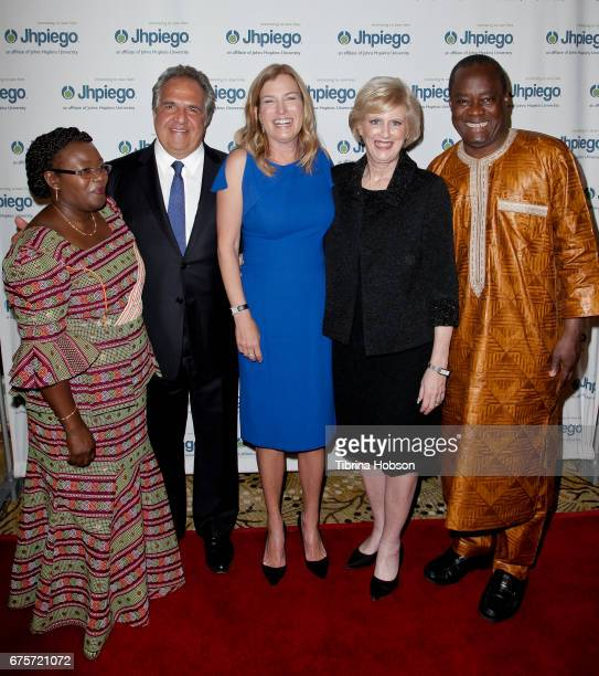 Lastina Tembo Lwatula Jim Gianopulos Ann Gianopulos Dr Leslie Mancuso and Dr Alain Damiba attend Jhpiego's 'Laughter Is The Best Medicine' Gala at...