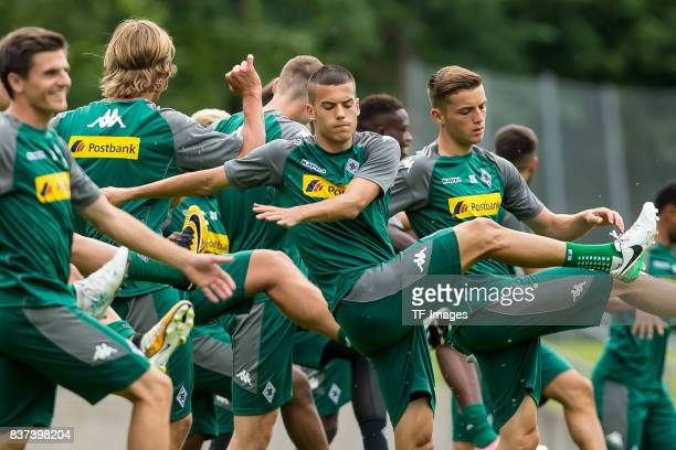 Laszlo Benes of Borussia Moenchengladbach controls the ball during a training session at the Training Camp of Borussia Moenchengladbach on July 18...