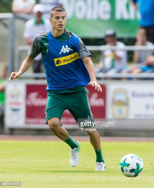 Laszlo Benes of Borussia Moenchengladbach controls the ball during a training session at the Training Camp of Borussia Moenchengladbach on July 19...