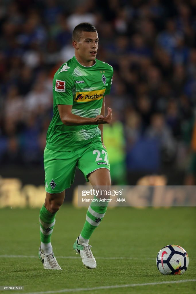 Laszlo Benes of Borussia Moenchengladbach during the preseason friendly match between Leicester City and Borussia Moenchengladbach at The King Power Stadium on August 4, 2017 in Leicester, United Kingdom.