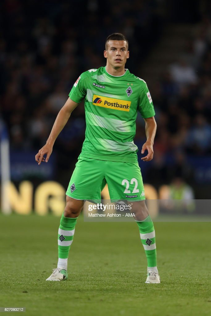 Laszlo Benes of Borussia Moenchengladbach during the preseason friendly match between Leicester City and Borussia Moenchengladbach at The King Power Stadium on August 4, 2017 in Leicester, United Kingdom.