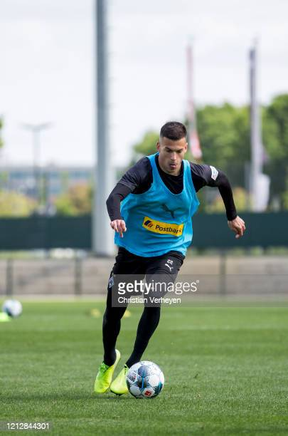 Laszlo Benes of Borussia Moenchengladbach in action during a training session of Borussia Moenchengladbach at BorussiaPark on May 12 2020 in...