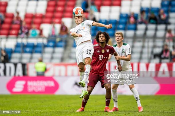 Laszlo Benes of Borussia Moenchengladbach in action during the preseason friendly match between FC Bayern Muenchen and Borussia Moenchengladbach at...