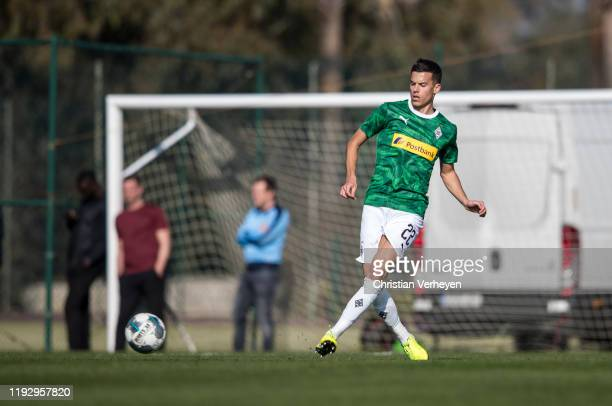 Laszlo Benes of Borussia Moenchengladbach in action during the first friendly match between Borussia Moenchengladbach and SC Freiburg at the Borussia...