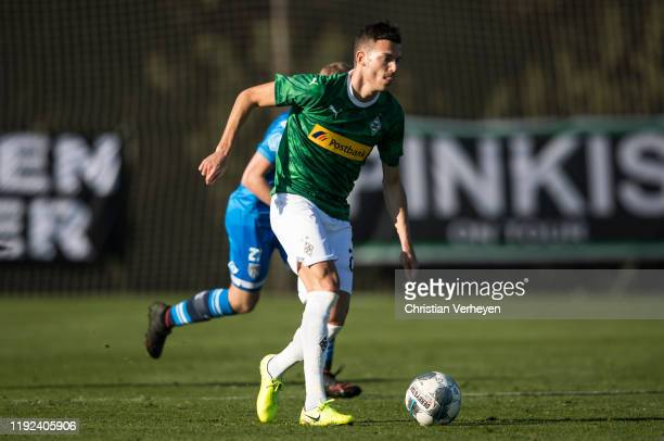 Laszlo Benes of Borussia Moenchengladbach in action during the friendly match between Borussia Moenchengladbach and Heracles Almelo at the Borussia...