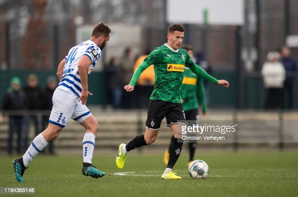 Laszlo Benes of Borussia Moenchengladbach in action during the friendly match between Borussia Moenchengladbach and MSV Duisburg at BorussiaPark on...