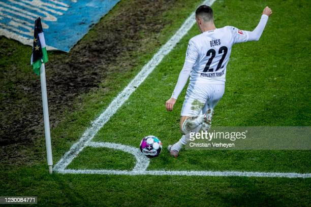 Laszlo Benes of Borussia Moenchengladbach in action during the Bundesliga match between Borussia Moenchengladbach and Hertha BSC at Borussia-Park on...