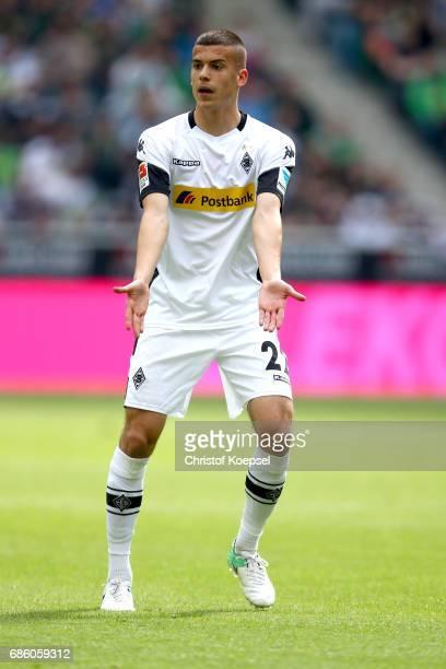 Laszlo Benes of Moenchengladbach reacts during the Bundesliga match between Borussia Moenchengladbach and SV Darmstadt 98 at BorussiaPark on May 20...