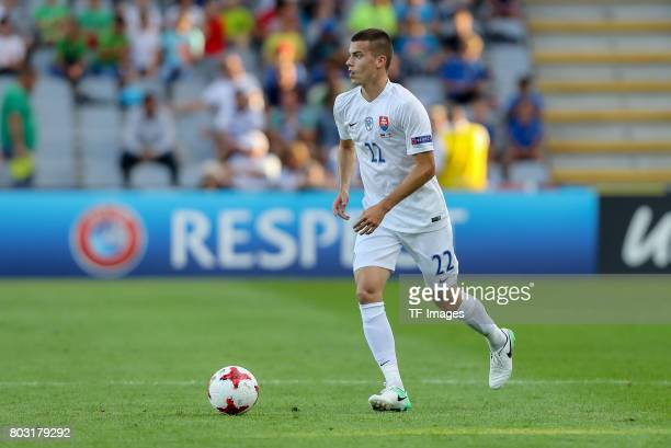 Laszlo Benes of Slovakia in action during the 2017 UEFA European Under21 Championship match between Slovakia and England on June 19 2017 in Kielce...