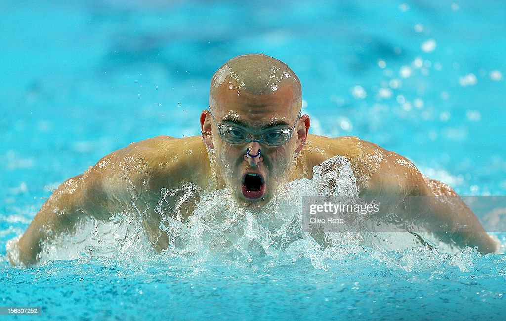 Laszlo Cseh of Hunagry competes in the Men's 400m Individual Medley heats during day two of the 11th FINA Short Course World Championships at the Sinan Erdem Dome on December 13, 2012 in Istanbul, Turkey.