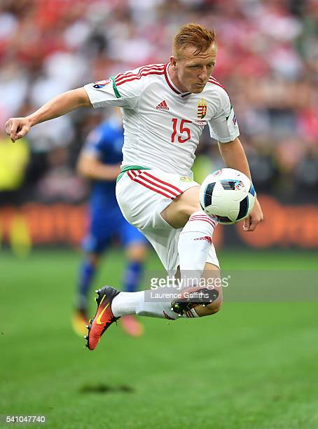 Laszlo Kleinheisler of Hungary in action during the UEFA EURO 2016 Group F match between Iceland and Hungary at Stade Velodrome on June 18 2016 in...