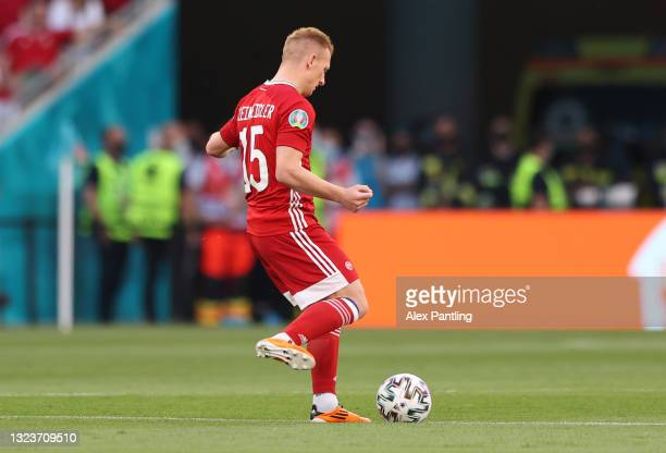 Laszlo Kleinheisler of Hungary kicks off during the UEFA Euro 2020 Championship Group F match between Hungary and Portugal at Puskas Arena on June...