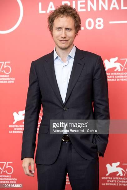 Laszlo Nemes attends 'Napszallta ' photocall during the 75th Venice Film Festival at Sala Casino on September 3 2018 in Venice Italy