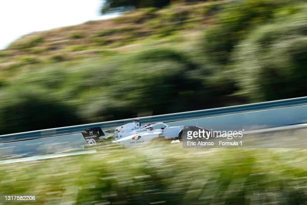 Laszlo Toth of Hungary and Campos Racing drives at Circuito de Jerez on May 12, 2021 in Jerez de la Frontera, Spain.