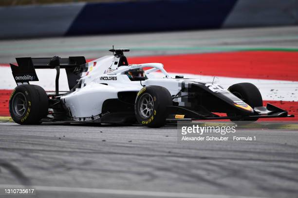 Laszlo Toth of Hungary and Campos Racing drives during Day Two of Formula 3 Testing at Red Bull Ring on April 04, 2021 in Spielberg, Austria.